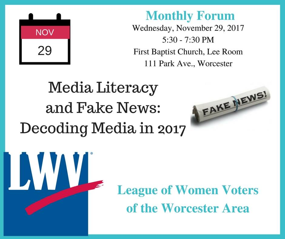 league of women voters flyer