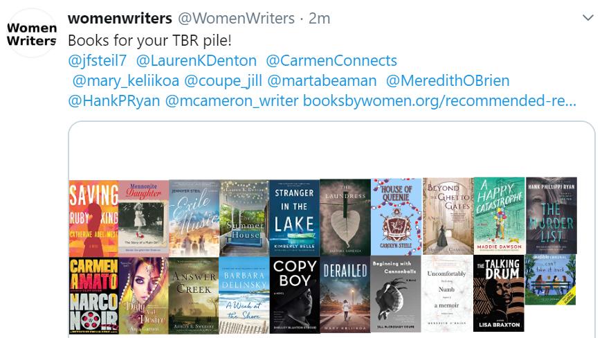 Women Writers TBR pile