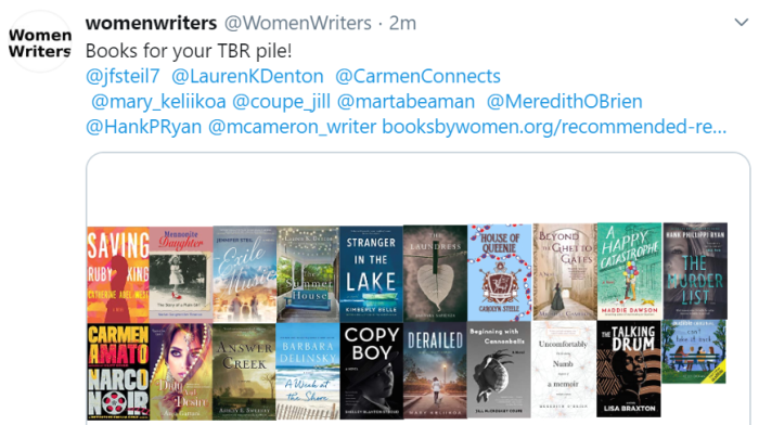 Women Writers TBR pile